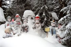 Schnee-Familie